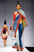 Jeans and Saree- Designer Nida Mahmood